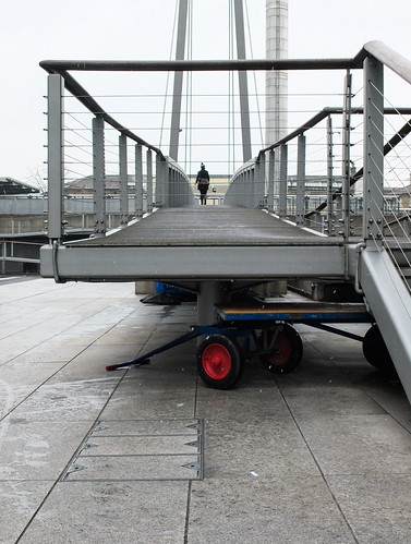 girl on a bridge by Simon Sharville