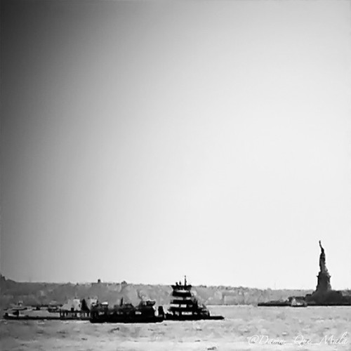 """Give me your tired, your poor, Your huddled masses yearning to breathe free, The wretched refuse of your teeming shore. Send these, the homeless, tempest-tossed, to me: I lift my lamp beside the golden door."" by damn_que_mala"