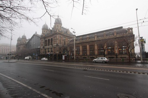Street side of Budapest-Nyugati pályaudvar