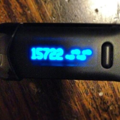 Number of steps taken walking 18 holes of golf! 15,722. #golf #fitbit #steps #walking #fitness