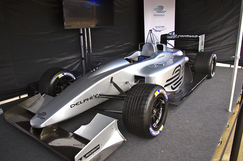 """Formula e"" Electric Racing Car"