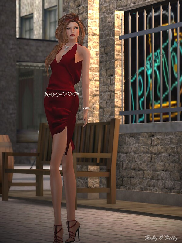 Crystal Line-Diamond dress and sandals-002