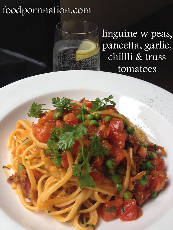 linguine w peas