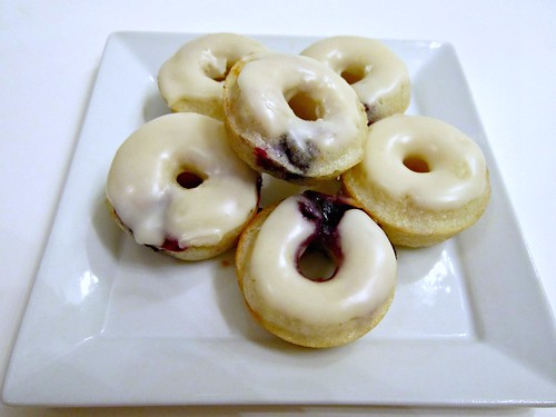 Orange-Glazed Blueberry Donuts