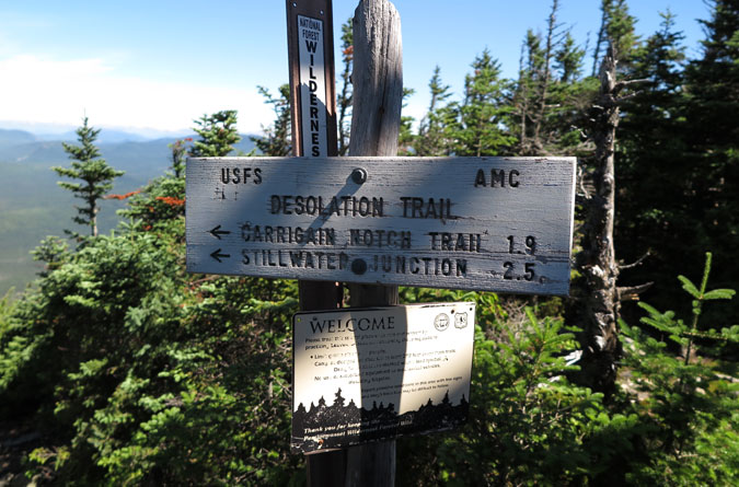 Desolation Trail Sign