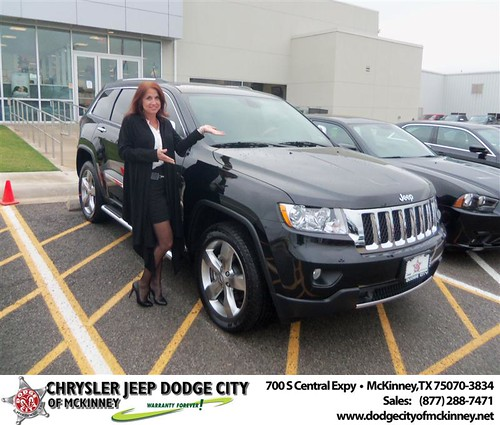 Dodge City of McKinney would like to say Congratulations to Julie Bailey on the 2013 Jeep Grand Cherokee by Dodge City McKinney Texas
