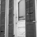shutters and a door