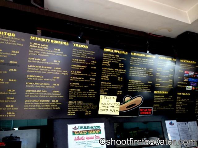 Hermanos Taco Shop menu 2