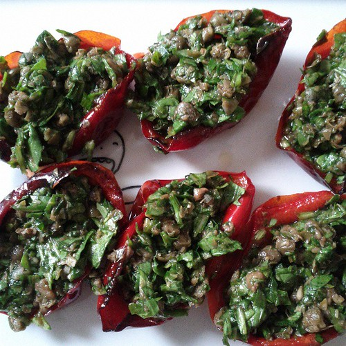 Stuffed cherry pepper antipasto. Blogged https://stomachmonster.wordpress.com #homecooking #CasaPuerco
