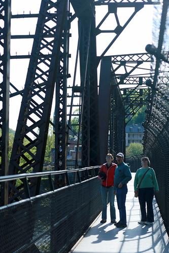 the Berkowitzes on the Harper's Ferry foot bridge