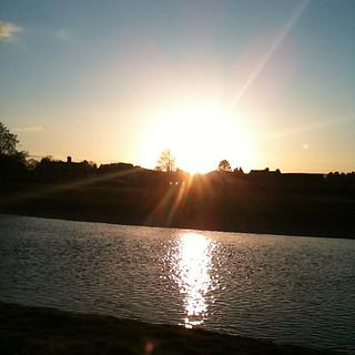 Riverside #sunset at #wonderwool #wales