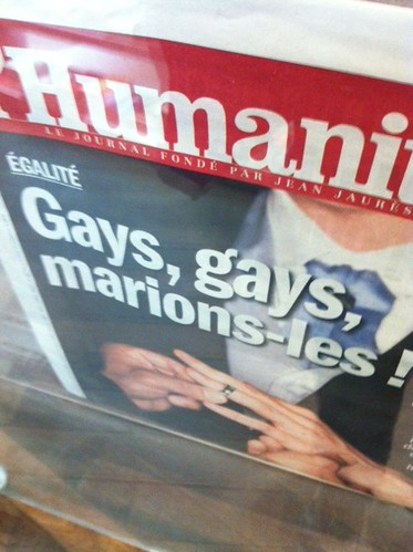 French Newspaper Headline, April 2013