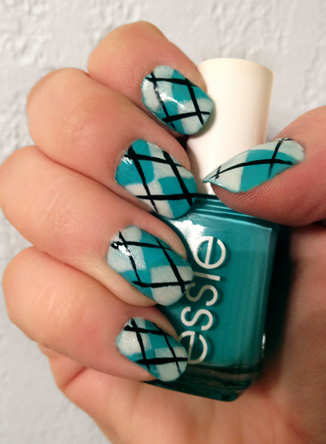 Argyle Nails by intraordinary