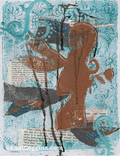 Believe: Mixed Media Gelli Monoprint