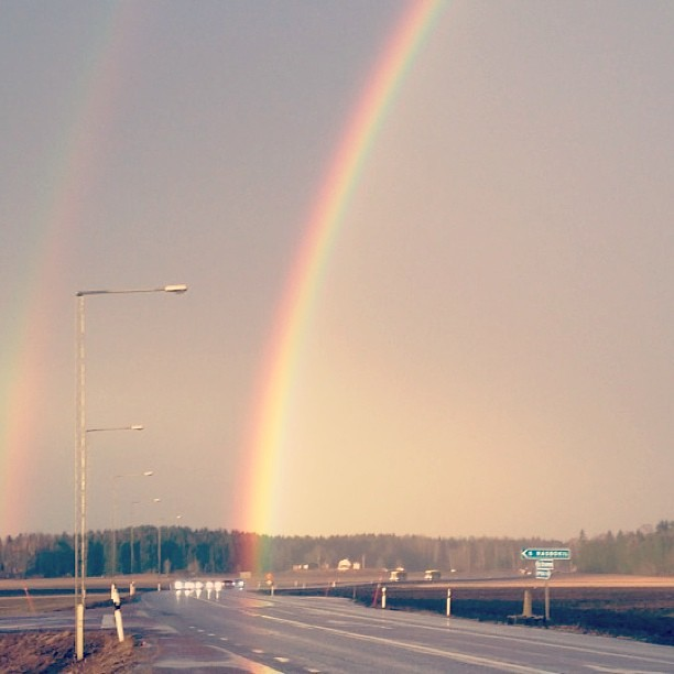 Såg regnbågens slut :') #rainbow