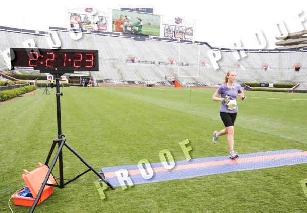 Finish on the 50 Half Marathon