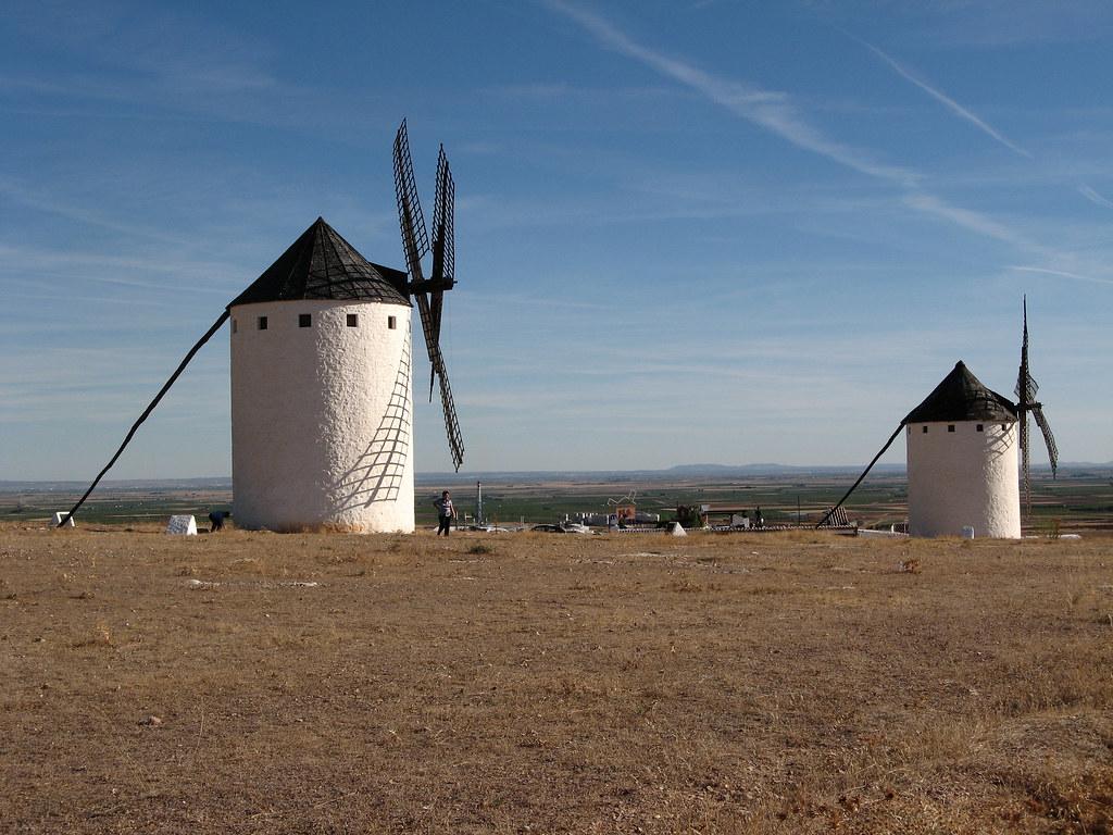 Molinos de viento en Campo de Criptana. Autor, M. Peinado
