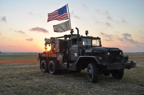 Military Heritage Museum's Jeep at Sunrise, Florida International Air Show, Punta Gorda, March 2013