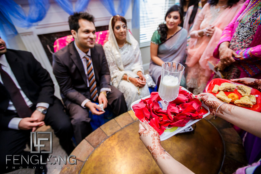 Kanwal and Ali play the Khoba Khobi ceremony as part of their Atlanta Ismaili Indian wedding