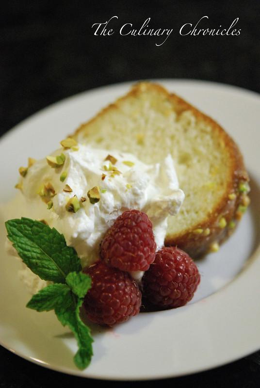 Pistachio-Orange Blossom Cake