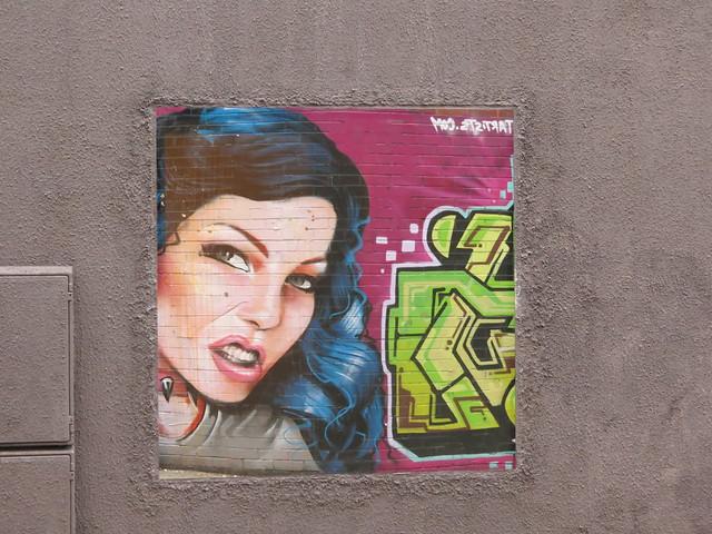 Shoreditch street art - Irony (reflected)