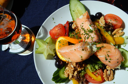 fabulous Salmon & Chevre Cheese Salad in Maastricht, Holland