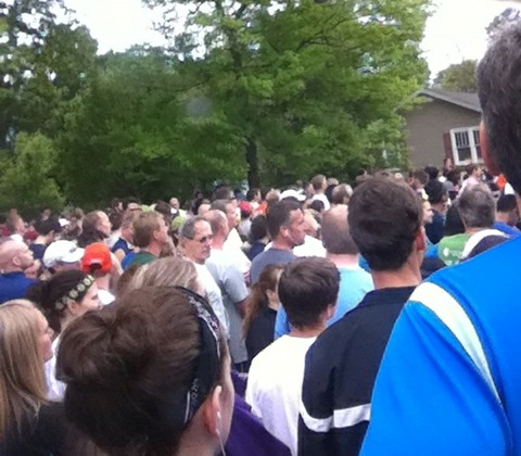 The crowd at the start