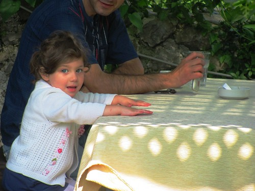 Kruje, Albania-Little Girl at Coffee Shop