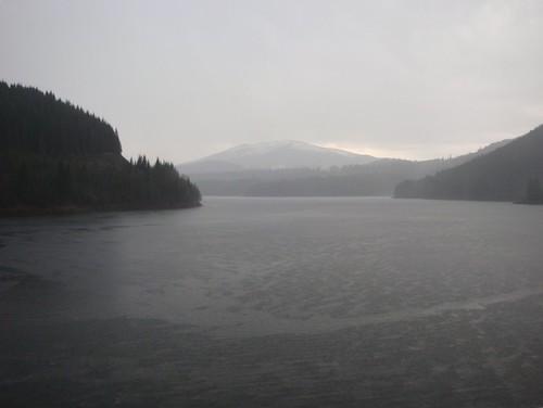 Lacul Oașa de pe baraj