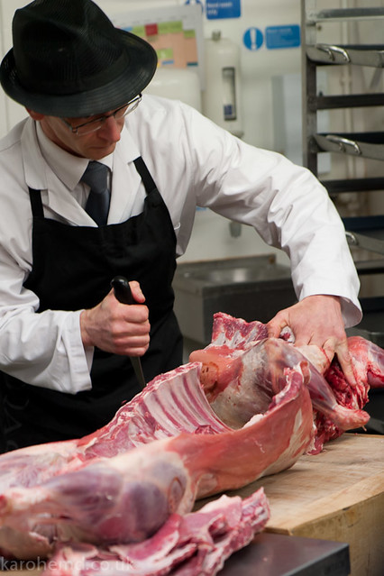 Butchering a lamb
