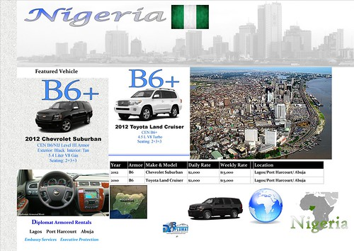 Armored Car Rental Nigeria by diplomatarmored