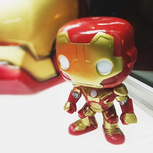 Saw this #cute #ironman mini at #cineplexvarsity yesterday. Isn't it cute?! I want it xD
