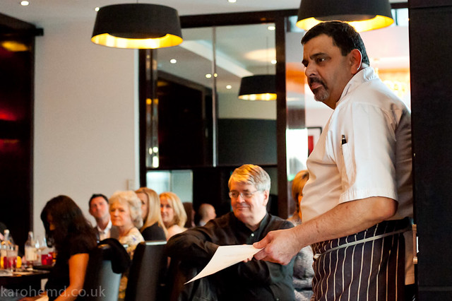 Cyrus Todiwala introducing his dishes