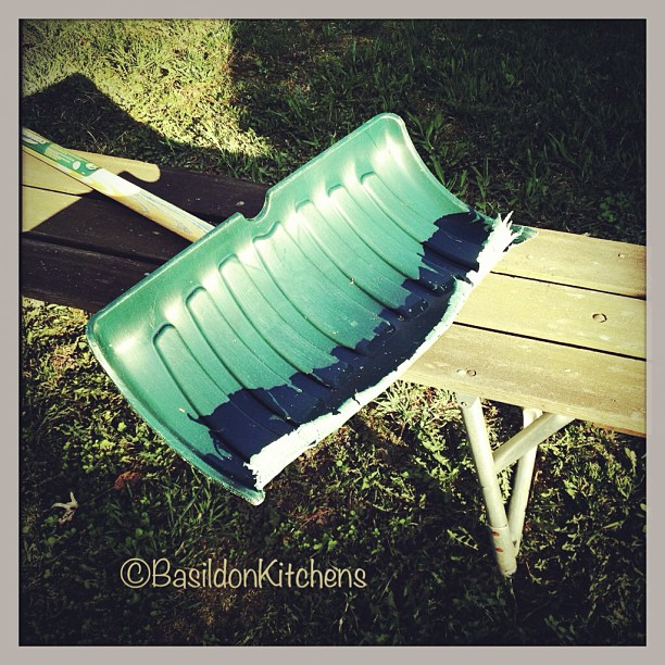 May 4 - worn out {my snow shovel is definitely WORN OUT from the long winter} #photoaday @missyfowler47