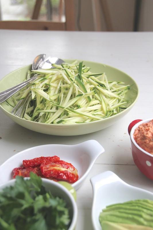 prepared zucchini slices