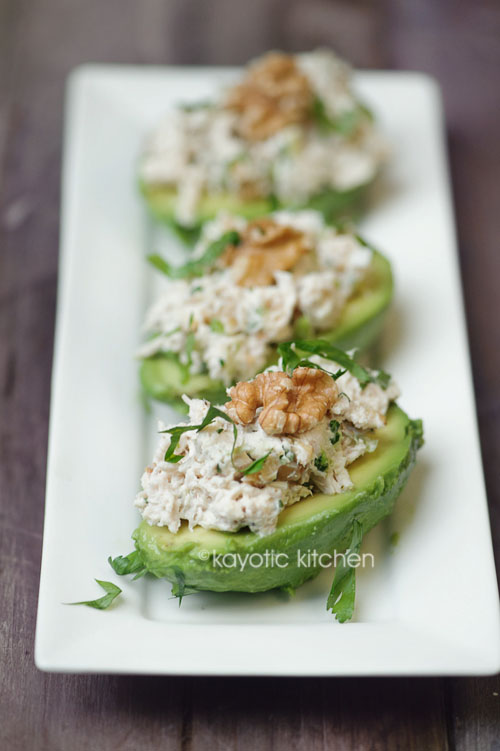 Avocado, Chicken & Walnut Salad