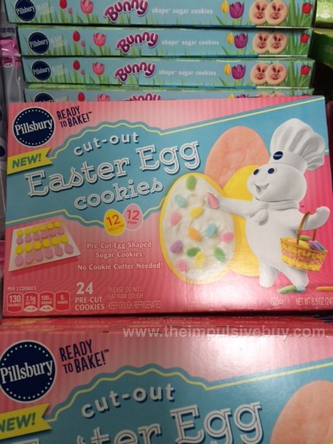Pillsbury Ready to Bake Cut-Out Easter Egg Cookies