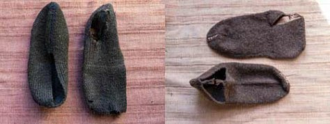Modern and ancient slippers for wooden shoes