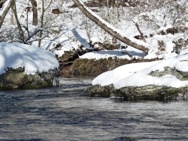 Snowy Whale Rock on the Gunpowder River