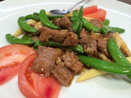 牛肉野菜の牡蠣ソース炒@神洲之華