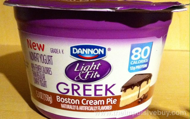 Dannon Light & Fit Boston Cream Pie Greek Yogurt