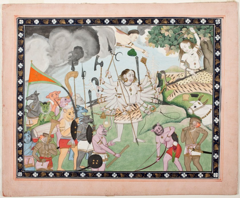Ravana Receiving a Boon from Shiva LACMA M.2009.148.2