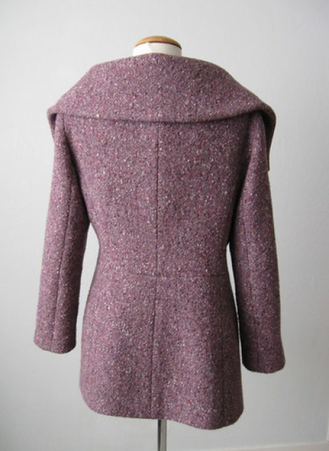 Burda plum coat back