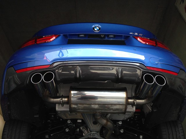 bmw 435i w supersprint quad exhaust