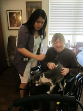 Cats helping people with disabilities - Sophia and Eenie with Marie
