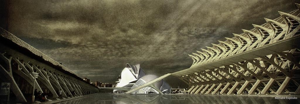 Foto gratis de la Ciudad de las Artes y las Ciencias de Valencia