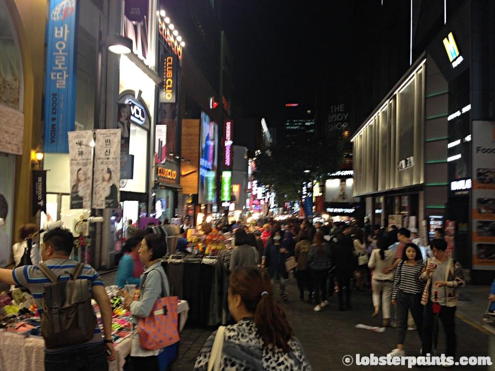 29 Sep 2014: Myeongdong Shopping District   Seoul, South Korea