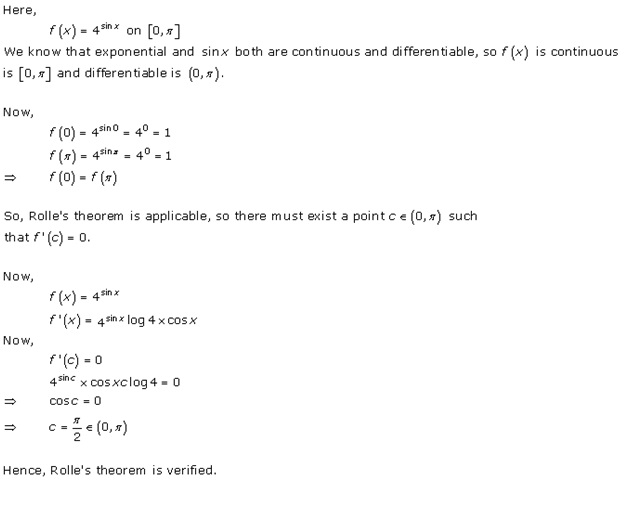 Free Online RD Sharma Class 12 Solutions Chapter 15 Mean Value Theorems Ex 15.1 Q6-xvi