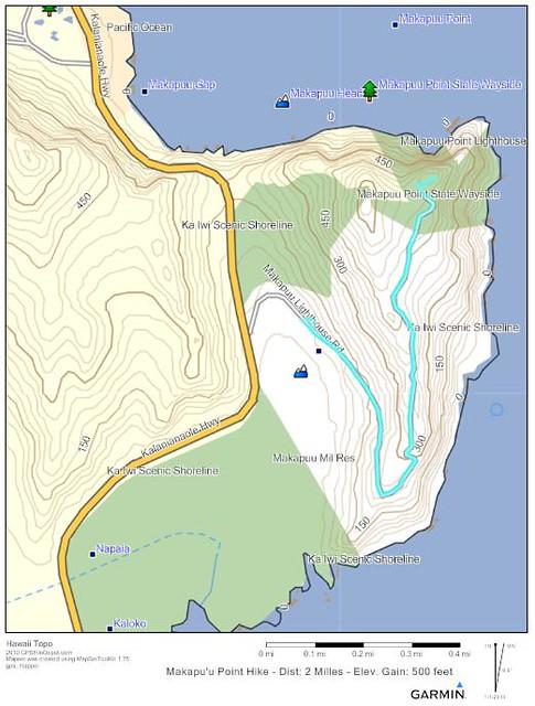 Makapu'u Trail Map