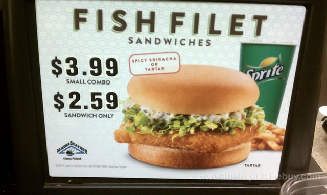 Jack in the Box Spicy Sriracha Fish Filet Sandwich